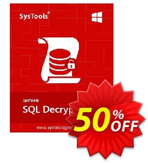 SysTools SQL Decryptor (Business)  프로모션