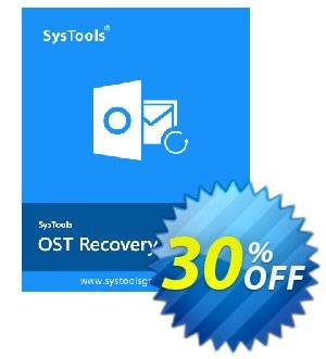 SysTools OST Recovery (Technician License) Coupon, discount SysTools coupon 36906. Promotion: