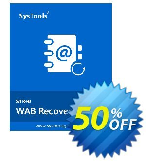 WAB Recovery - Personal License Coupon, discount SysTools coupon 36906. Promotion: