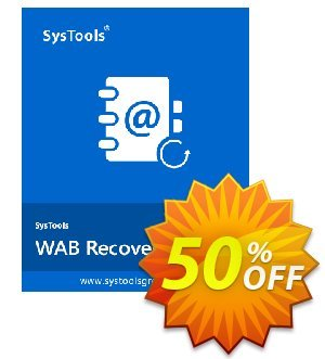 SysTools WAB Recovery (Business) 優惠券,折扣碼 SysTools coupon 36906,促銷代碼: