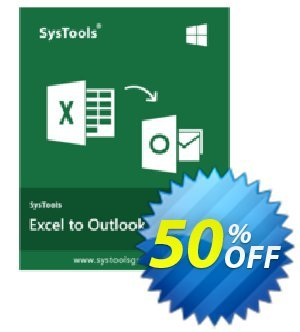 SysTools Excel to Outlook (Business) 프로모션 코드 SysTools coupon 36906 프로모션: