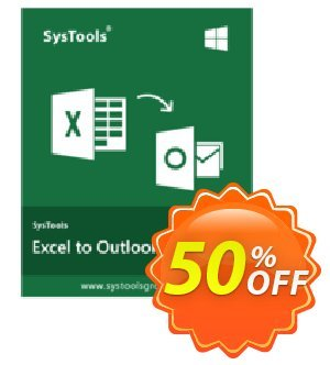 SysTools Excel to Outlook (Enterprise) discount coupon SysTools coupon 36906 -
