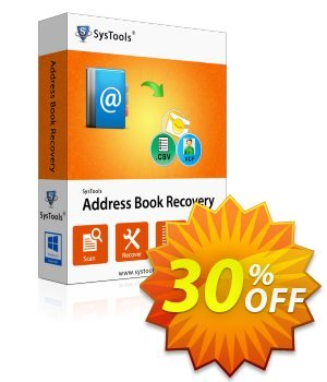 SysTools Address Book Recovery (Business) 優惠券,折扣碼 SysTools coupon 36906,促銷代碼: