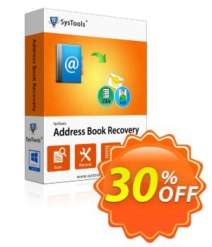 SysTools Address Book Recovery (Enterprise) 優惠券,折扣碼 SysTools coupon 36906,促銷代碼: