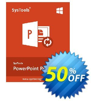 SysTools PowerPoint Recovery 優惠券,折扣碼 SysTools Summer Sale,促銷代碼: exclusive promo code of SysTools PowerPoint Recovery 2020
