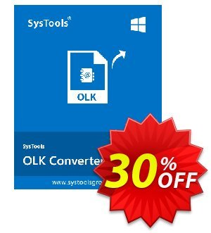 SysTools OLK Converter Coupon discount SysTools Summer Sale. Promotion: best discount code of SysTools OLK Converter 2020