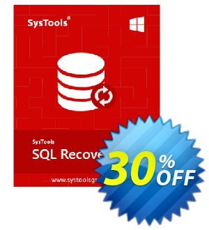 SQL Recovery - Technician License Coupon, discount SysTools coupon 36906. Promotion: