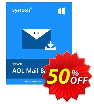 SysTools AOL Backup - Single User Coupon discount SysTools Summer Sale - special deals code of SysTools AOL Backup - Single User 2019