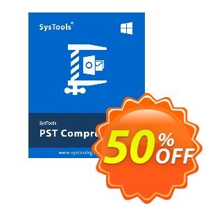 SysTools PST Compress 優惠券,折扣碼 SysTools Summer Sale,促銷代碼: