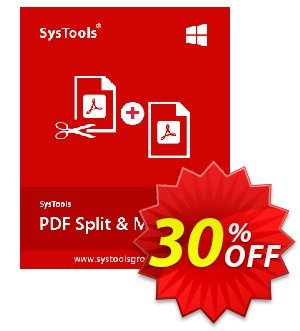 Special Offer - SysTools PDF Split & Merge discount coupon SysTools Summer Sale - formidable discounts code of Special Offer - SysTools PDF Split & Merge - Personal License 2021