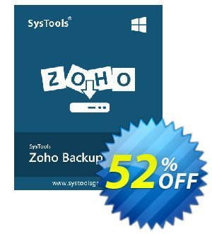 SysTools ZOHO Backup 프로모션 코드 BitsDuJour Daily Deal 프로모션: marvelous discounts code of SysTools ZOHO Backup 2020