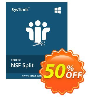 SysTools NSF Split 優惠券,折扣碼 SysTools Summer Sale,促銷代碼: special sales code of SysTools NSF Split 2020