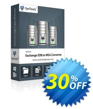SysTools Exchange EDB to MSG Converter 優惠券,折扣碼 SysTools Summer Sale,促銷代碼: stirring deals code of SysTools Exchange EDB to MSG Converter 2020