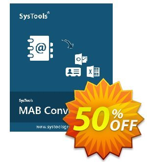Get SysTools MAB Converter 50% OFF coupon code