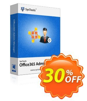 SysTools Office365 Admin Manager (Site License) discount coupon SysTools Summer Sale - special discounts code of SysTools Office 365 Admin Manager - Site License 2020