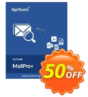 SysTools MailPro Plus Coupon, discount Affiliate Promotion. Promotion: amazing discount code of SysTools MailPro+ 2020