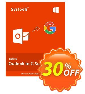 SysTools Outlook to G Suite Coupon, discount SysTools Summer Sale. Promotion: awful discount code of SysTools Outlook to G Suite 2020
