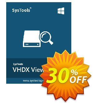 SysTools VHDX Viewer Pro 優惠券,折扣碼 SysTools Summer Sale,促銷代碼: staggering discount code of SysTools VHDX Viewer Pro 2019
