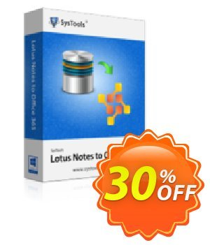 SysTools Mail Migration Office365 (5 User Licenses) discount coupon SysTools Summer Sale - exclusive sales code of SysTools Lotus Notes to Office 365 - 5 User License 2021