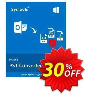 SysTools PST Converter (Business License) 優惠券,折扣碼 SysTools coupon 36906,促銷代碼: