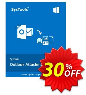 SysTools Outlook Attachment Extractor Coupon discount SysTools Summer Sale. Promotion: