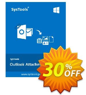Get SysTools Outlook Attachment Extractor 50% OFF coupon code