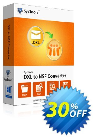 SysTools DXL to NSF Converter Coupon discount SysTools Summer Sale - best promo code of SysTools DXL to NSF Converter 2019