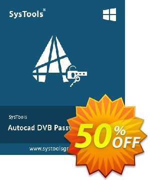 SysTools Autocad DVB Password Remover 優惠券,折扣碼 SysTools Summer Sale,促銷代碼: exclusive promo code of SysTools Autocad DVB Password Remover 2020