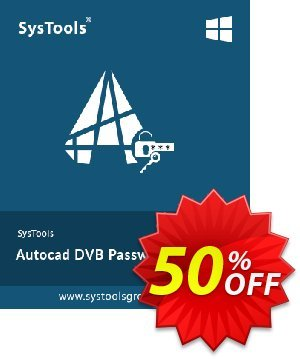 SysTools Autocad DVB Password Remover 優惠券,折扣碼 SysTools Summer Sale,促銷代碼: exclusive promo code of SysTools Autocad DVB Password Remover 2021