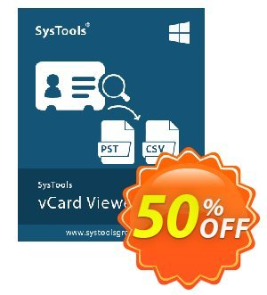 SysTools vCard Viewer Pro 優惠券,折扣碼 SysTools Summer Sale,促銷代碼: amazing sales code of SysTools vCard Viewer Pro 2019