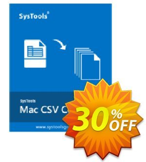 SysTools Mac CSV Converter Coupon, discount SysTools Summer Sale. Promotion: awful discount code of SysTools Mac CSV Converter 2020