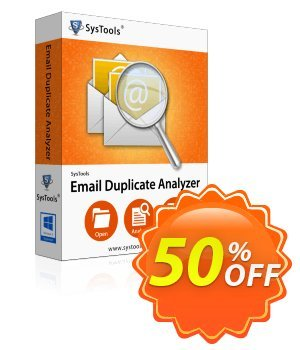 Email Duplicate Analyzer - Personal License Coupon, discount SysTools coupon 36906. Promotion: