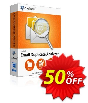 Email Duplicate Analyzer - Enterprise License Coupon, discount SysTools coupon 36906. Promotion: