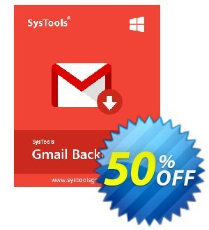 SysTools GMail Backup (100 Users) 프로모션 코드 SysTools coupon 36906 프로모션: