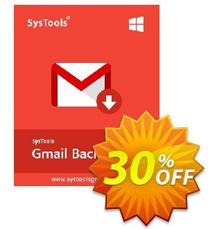 SysTools GMail Backup (100+ Users) Coupon, discount SysTools coupon 36906. Promotion: