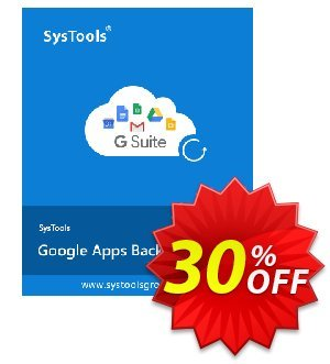 Google Apps Backup - Upto 5 Users License Coupon, discount SysTools coupon 36906. Promotion: