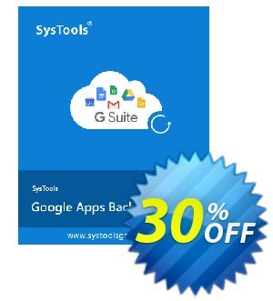 SysTools Google Apps Backup - 25 Users License 優惠券,折扣碼 SysTools coupon 36906,促銷代碼: