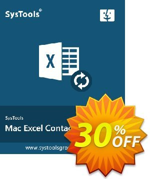 SysTools Excel Contacts Converter (Mac) Coupon discount SysTools Spring Offer. Promotion: Wonderful discount code of SysTools Mac Excel Contacts Converter 2020