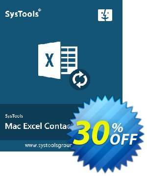 SysTools Excel Contacts Converter (Mac) 프로모션 코드 SysTools Spring Offer 프로모션: Wonderful discount code of SysTools Mac Excel Contacts Converter 2020