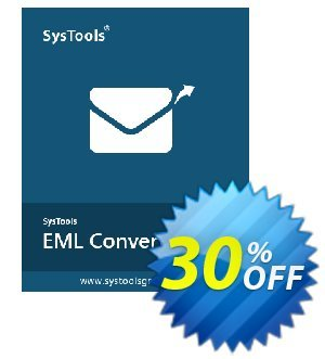 SysTools EML Converter discount coupon SysTools Pre Monsoon Offer - Awful sales code of SysTools EML Converter, tested in December 2020