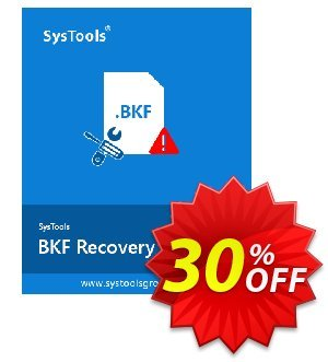 SysTools BKF Repair (Enterprise License) Coupon, discount SysTools coupon 36906. Promotion: