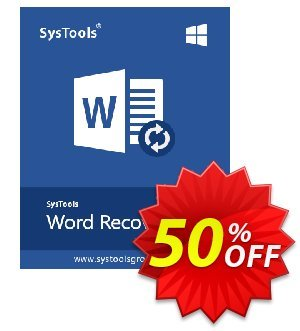 SysTools Word Repair (Business) 優惠券,折扣碼 SysTools coupon 36906,促銷代碼: