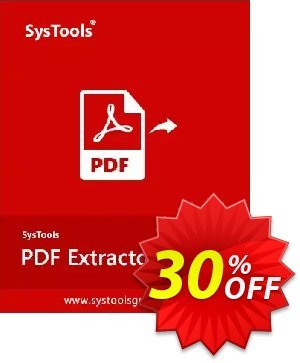SysTools PDF Extractor for MAC (Enterprise License) discount coupon 30% OFF SysTools PDF Extractor for MAC (Enterprise License), verified - Awful sales code of SysTools PDF Extractor for MAC (Enterprise License), tested & approved