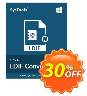 SysTools LDIF Converter discount coupon 30% OFF SysTools LDIF Converter, verified - Awful sales code of SysTools LDIF Converter, tested & approved