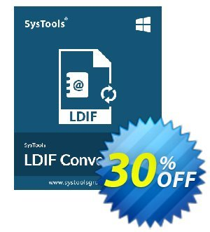 SysTools LDIF Converter (Business License) 프로모션 코드 30% OFF SysTools LDIF Converter (Business License), verified 프로모션: Awful sales code of SysTools LDIF Converter (Business License), tested & approved