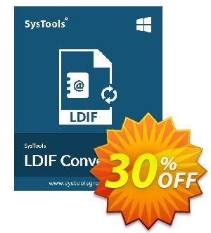 SysTools LDIF Converter (Enterprise License) discount coupon 30% OFF SysTools LDIF Converter (Enterprise License), verified - Awful sales code of SysTools LDIF Converter (Enterprise License), tested & approved