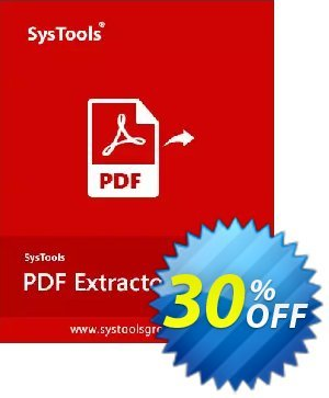 SysTools PDF Extractor (Business License) discount coupon SysTools Spring Offer - Stirring discounts code of SysTools PDF Extractor 2020