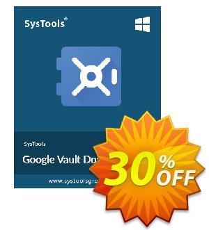Get SysTools Google Vault Downloader 30% OFF coupon code