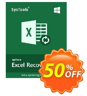 SysTools Excel Recovery (Business License) 優惠券,折扣碼 SysTools coupon 36906,促銷代碼:
