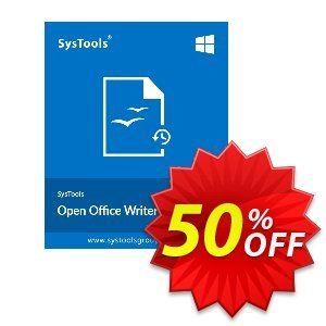 SysTools OpenOffice Writer Recovery discount coupon SysTools Summer Sale -